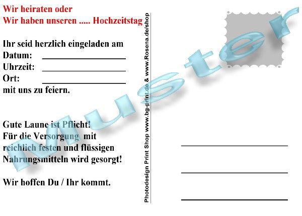 50 einladungskarten ortsschild jeder hochzeitstag postkarten, Einladung