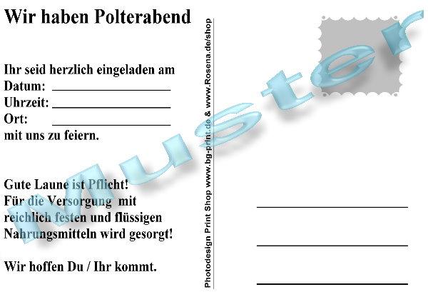 20 ortsschild einladungskarten polterabend einladungen postkarte, Einladungen