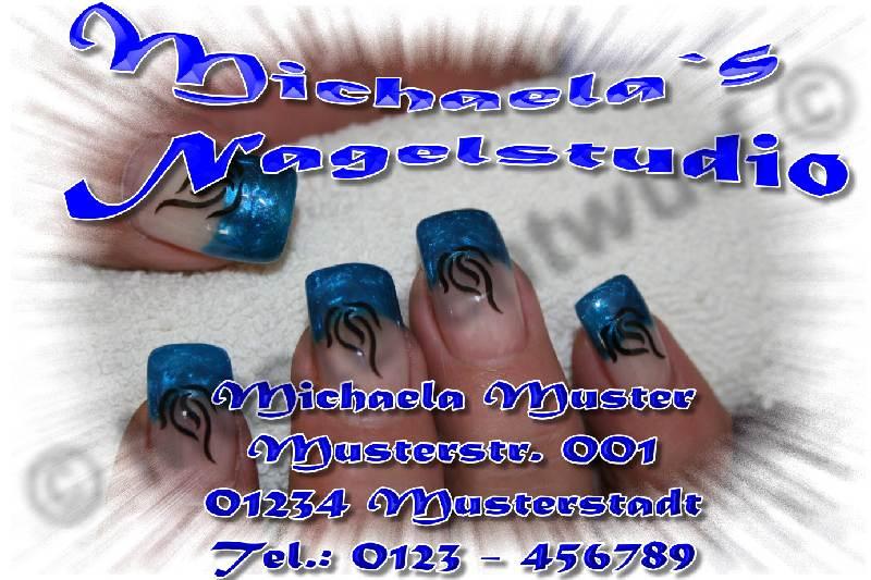 50 Visitenkarten Nagelstudio Fingernagelstudio Nails On