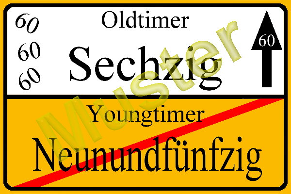 Gluckwunschkarte Zum Geburtstag 54 55 56 57 58 59 60 Ortsschild